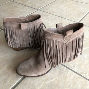 Frindged Ankle Boots